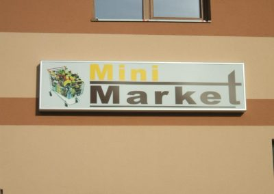 Caseta luminoasa market